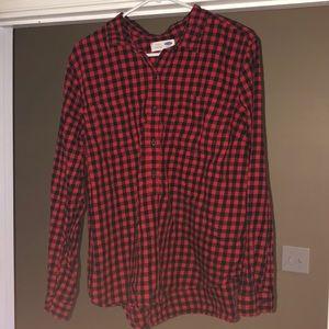 Women's half button down flannel